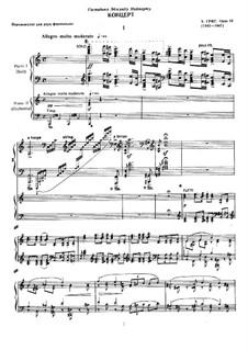 Piano Concerto in A Minor, Op.16: arranjos para dois pianos de quatro mãos by Edvard Grieg