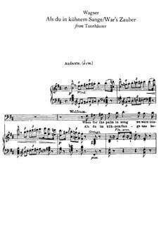 Act I. Als du in kühnem Sange: Para vocais e piano by Richard Wagner