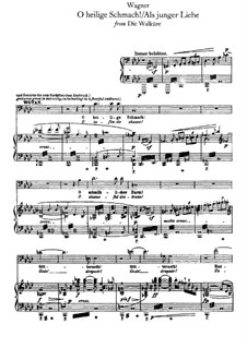 The Valkyrie , WWV 86b: O heilige Schmach, for voices and piano by Richard Wagner
