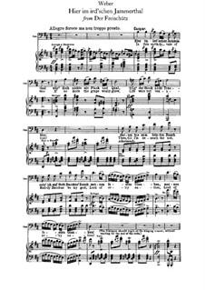 Akt I, No.4 Hier im ird'schen Jammerthal: Partitura piano-vocal by Carl Maria von Weber