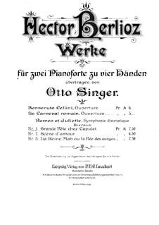 Roméo et Juliette (Romeo and Juliet), H.79 Op.17: Grande fête chez Capulet, for two pianos four hands by Hector Berlioz