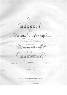 Mélodie for Two French Horn and Piano, Op.25: Partitura completa by Louis-François Dauprat
