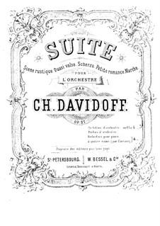 Suite for Orchestra, Op.37: arranjos para piano de quatro mãos by Karl Julevich Davydov