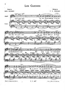 Two Romances, L.79: No.2 Les cloches by Claude Debussy