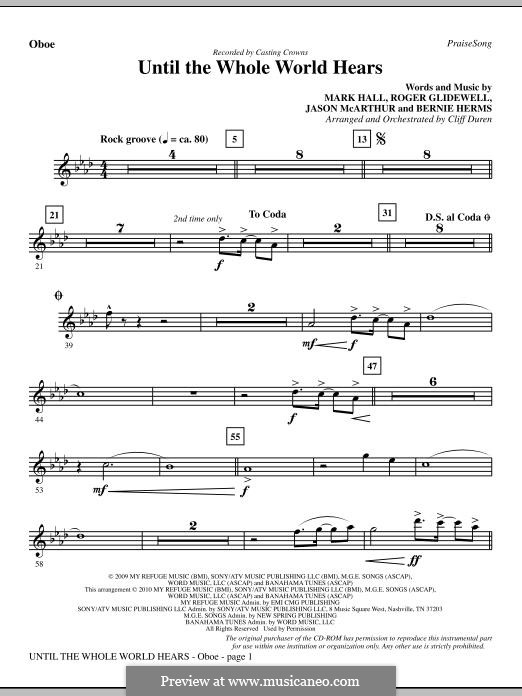 Until the Whole World Hears (Casting Crowns): parte Oboe by Bernie Herms, Jason McArthur, Mark Hall, Roger Glidewell