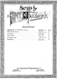 Songs for Voice and Piano: The Daughter of Mendoza by George Whitefield Chadwick