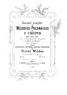 Recueil complet de mélodies polonaises for Voice and Piano: Recueil complet de mélodies polonaises for Voice and Piano by Frédéric Chopin