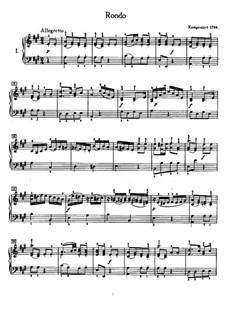 Rondo in A Major, WoO 49: para piano (com dedilhado) by Ludwig van Beethoven