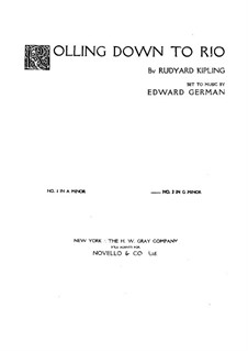 Rolling Down to Rio: Para vocais e piano by Edward German