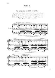 La glu: act II, para vozes e piano by Gabriel Dupont