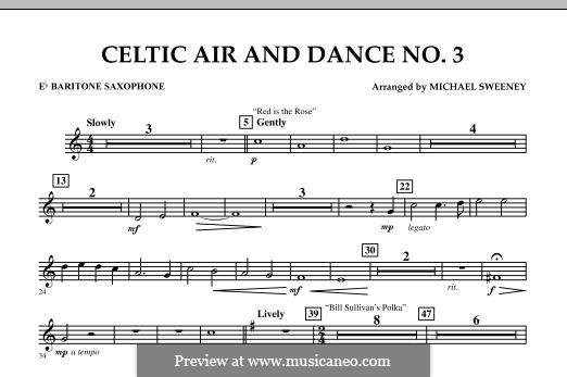 Celtic Air and Dance No.3: Eb Baritone Saxophone part by folklore