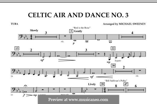 Celtic Air and Dance No.3: Tuba, partes by folklore
