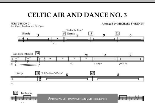 Celtic Air and Dance No.3: Percussion 2 part by folklore