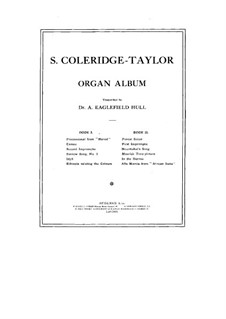 Organ Album: livro I by Samuel Coleridge-Taylor