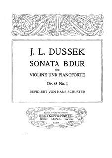 Three Sonatas, Op.69: Sonata for Piano and Violin No.1, Craw 240 by Jan Ladislav Dussek