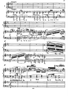 Concerto for Piano and Orchestra No.2, Op.19: Movements II, III, for two pianos four hands by Ludwig van Beethoven