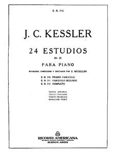 Twenty-Four Etudes for Piano, Op.20: set completo by Joseph Christoph Kessler