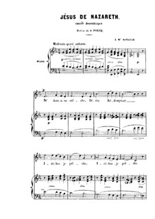 Nazareth: Partitura Piano-vocal by Charles Gounod