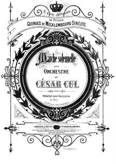 Marche solennelle, Op.18: dois pianos de quatro mãos by César Cui