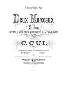 Two Pieces for Violin and Piano, Op.24: No.1 Alla Spagnuola – score by César Cui