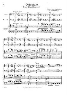 No.9 Orientale: para trio de pianos by César Cui