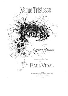 Vague tristesse: Vague tristesse by Paul Vidal
