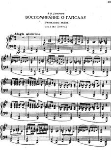 Souvenir de Hapsal, TH 125 Op.2: No.1 Ruines d'un chateau by Pyotr Tchaikovsky