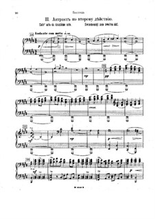 Music to Drama 'The King of the Jews', Op.95: Movement III for piano four hands – parts by Alexander Glazunov