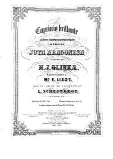 Jota Aragonese: para piano de quadro mãos by Mikhail Glinka