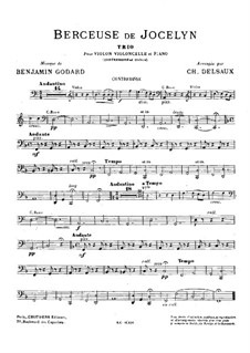Berceuse: For violin, cello, piano and double bass (ad libitum) – double bass part by Benjamin Godard