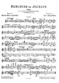 Berceuse: For violin, cello, piano and double bass (ad libitum) – violin part by Benjamin Godard