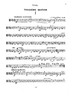 String Quartet No.3 in E Flat Major, TH 113 Op.30: parte viola by Pyotr Tchaikovsky