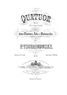 String Quartet No.3 in E Flat Major, TH 113 Op.30: violino parte I by Pyotr Tchaikovsky