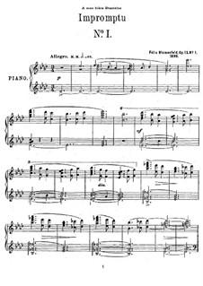 Two Impromptus, Op.13: Impromptu No.1 in A Flat Major by Felix Blumenfeld