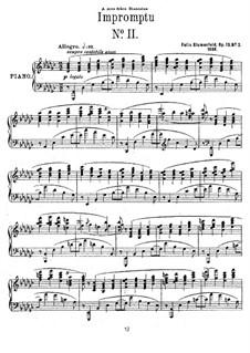 Two Impromptus, Op.13: Impromptu No.2 in G Flat Major by Felix Blumenfeld