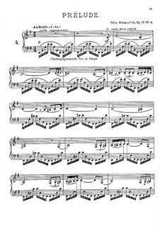 Twenty Four Preludes, Op.17: Prelude No.4 in E Minor by Felix Blumenfeld