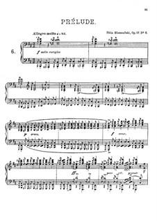 Twenty Four Preludes, Op.17: Prelude No.6 in B Minor by Felix Blumenfeld