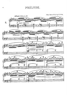Twenty Four Preludes, Op.17: Prelude No.8 in F Sharp Minor by Felix Blumenfeld