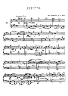 Twenty Four Preludes, Op.17: Prelude No.10 in C Sharp Minor by Felix Blumenfeld