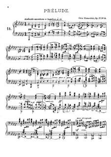 Twenty Four Preludes, Op.17: Prelude No.14 in E Flat Minor by Felix Blumenfeld