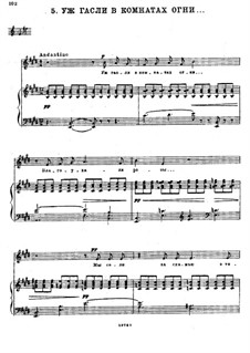 Six Romances, TH 107 Op.63: No.5 The Fires in the Rooms Were Already Out by Pyotr Tchaikovsky