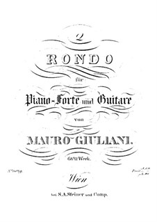 Two Rondos for Guitar and Piano, Op.68: Two Rondos for Guitar and Piano by Mauro Giuliani