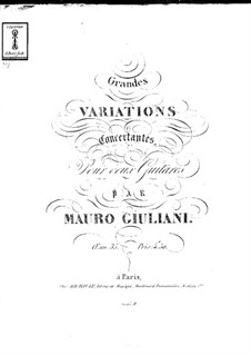 Grand Concert Variations for Two Guitars, Op.35: Grand Concert Variations for Two Guitars by Mauro Giuliani