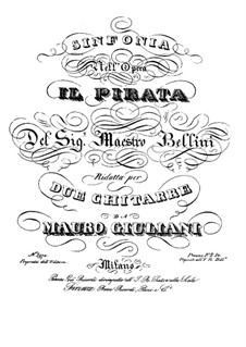 Il pirata (The Pirate): Sinfonia, for two gutars by Vincenzo Bellini