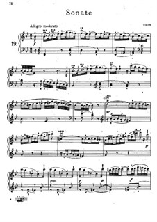 Sonata for Piano No.20 in B Flat Major, Hob.XVI/18: For a single performer by Joseph Haydn