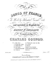 Venice: For voice and piano four hands by Charles Gounod