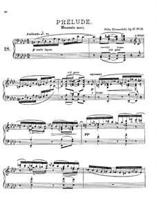 Twenty Four Preludes, Op.17: Prelude No.18 in F Minor by Felix Blumenfeld