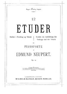 Twelve Etudes, Op.19: Book I (No.1-6) by Edmund Neupert