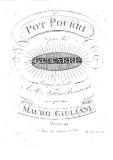 Potpourri for Guitar, Op.42: Potpourri for Guitar by Mauro Giuliani
