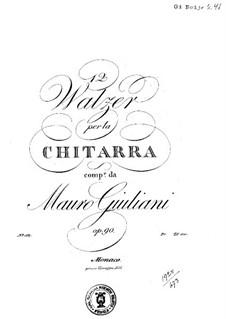 Twelve Waltzes, Op.90: Twelve Waltzes by Mauro Giuliani